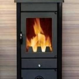 Печка на дърва и твърдо гориво VESTA - 9 kW, черна
