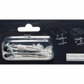 Крепежни елементи за рафтове - комплект, матирано сребрист