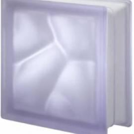 Lilla сатен 19 DO - стъклени тухли, 19 x 19 x 8 см