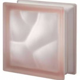 Rosa DO saten 19 - стъклени тухли -19 x 19 x 8 (см)