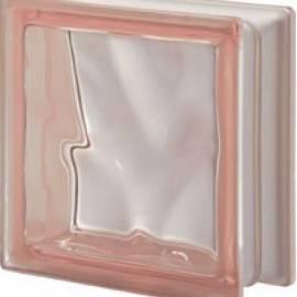 Стъклени тухли - розова Cloudy