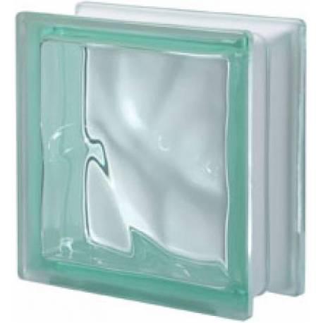 Стъклени тухли - зелена Cloudy