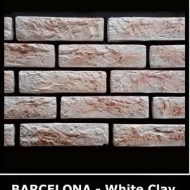 Декоративни тухлички Barcelona White Clay