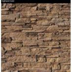 Декоративен камък - HIGHLAND Предлага се в 7 цвята - Highland Cream, Highland Gold, Highland Black, Highland Gray, Highland Silver, Highland Earth и Highland Rusty. Предлагат се и ъгли. Камъкът е с дебелина 3 см. Приложение - на закрито и на открито. Устойчив на всякакви атмосферни условия.