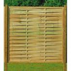 Дървени огради - плътни, ламелни