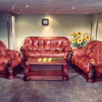 Кожена мека мебел