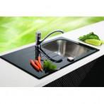 Кухненски мивки -  инокс със закалено стъкло