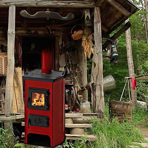 Сръбска печка на дърва и въглища